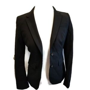 Banana Republic Wool Blend Jacket Black Career